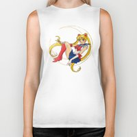 sailor moon Biker Tanks featuring Sailor Moon by Brittany Ketcham