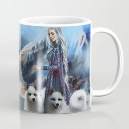 Snow Queen Snowflakes by K.M. Shea book cover Coffee Mug