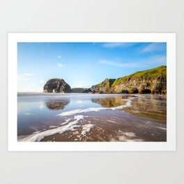 Nun's Beach Reflections Art Print