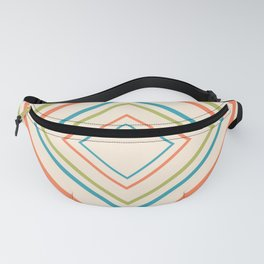 Midcentury Modern Diamonds Colorful Fanny Pack