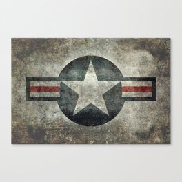 US Air force style insignia V2 Canvas Print