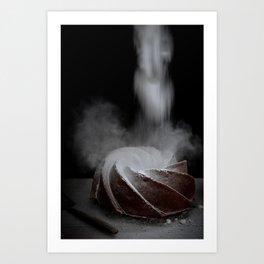 Bundt Cake   Food   Cupcake   Baking   Kitchen   Powdered Sugar   Art Print Art Print