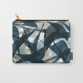 Abstract Whale Monotone Carry-All Pouch