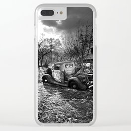 Rusty Sunrise Clear iPhone Case
