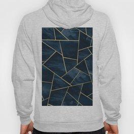 Dark Midnight Navy Blue Gold Geometric Glam #1 #geo #decor #art Hoody
