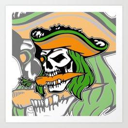 Pirate + Carrot = PAROT Art Print