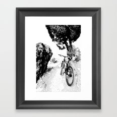 Solo Ride Before Meeting a Friend Framed Art Print