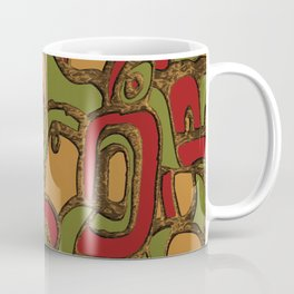 Modern Take on Myan Hieroglyphics Coffee Mug