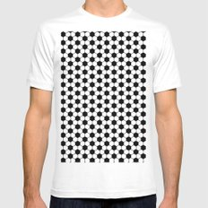 Ball pattern - Football Soccer black and white pattern White Mens Fitted Tee MEDIUM