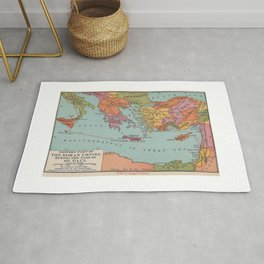 East Roman Empire Map of St Pauls Voyage to Rome Rug