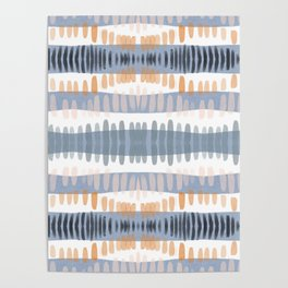 Tribal Watercolor Stripes Poster