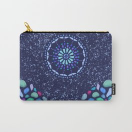 Sea Glass Mountain Night Mosaic Carry-All Pouch