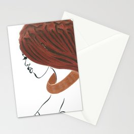 Natural Woman of Himba Stationery Cards