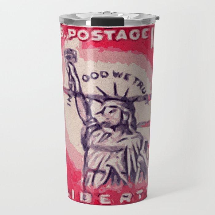 Stamp of Liberty Travel Mug