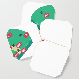 Who's on First? Baseball Diamond Fielding Card Coaster