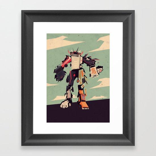 famous car monster Framed Art Print