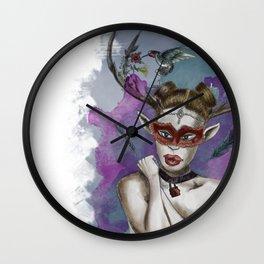 Deer Girl Wall Clock