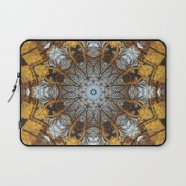Golden stone, blue sky and arching branches kaleidoscope Laptop Sleeve