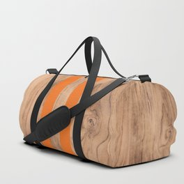 Wood Grain Stripes - Orange #840 Duffle Bag