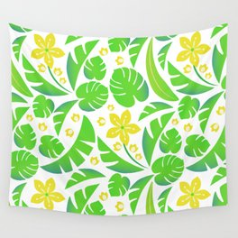 PERROQUET FLOWERS Wall Tapestry