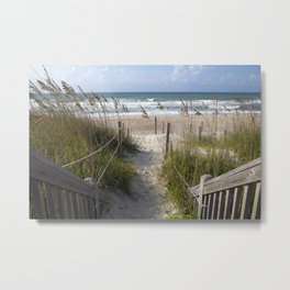 Peaceful Beach Scene Metal Print
