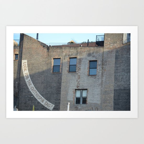 search.in.NY Art Print