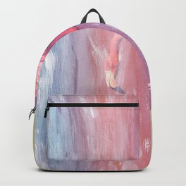 Flamingo in the Colored Rain #1 #tropical #decor #art #society6 Backpack