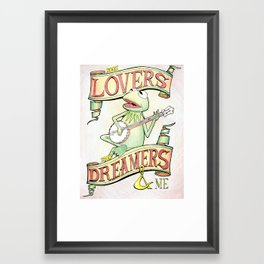 Kermit the Frog Artwork - Rainbow Connection Framed Art Print