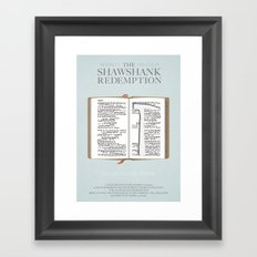 The Shawshank Redemption - minimal poster Framed Art Print