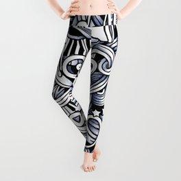 Music doodle pattern Leggings