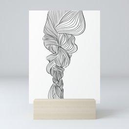 Natural braid, in transparent/black Mini Art Print