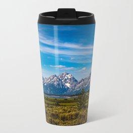 Teton Mountains Metal Travel Mug