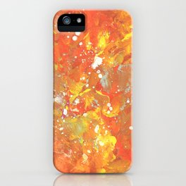 Orange Galaxy Fire iPhone Case