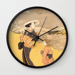 The Jewel River of Plovers Wall Clock