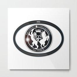 MI6 Oval Badge (Millitary Intelligence Section 6) Metal Print