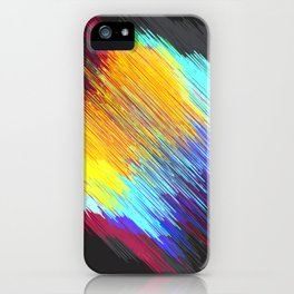 Streaky color patch iPhone Case
