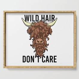 Wild Hair Don't Care Hipster Hairstyles Gift Serving Tray