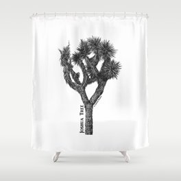 Joshua Tree Burns Canyon by CREYES Shower Curtain