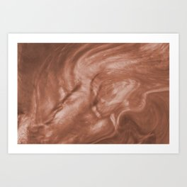 Flowing Pearlescent Haze Sherwin Williams Cavern Clay SW7701 Art Print