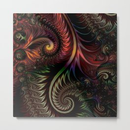 Fractal game with colors and shapes Metal Print