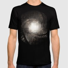 Staircase Mens Fitted Tee MEDIUM Black