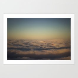 A Sea of Clouds Art Print