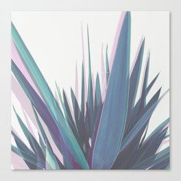 Holographic Leaves Canvas Print