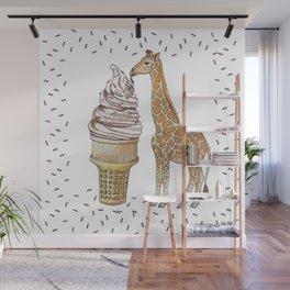 Ice Cream for a Giraffe Wall Mural