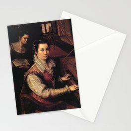 Lavinia Fontana - Self-portrait at the Virginal with a Servant Stationery Cards