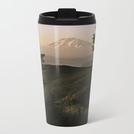 Mount Adams in the Distance. Metal Travel Mug