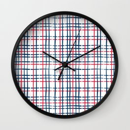 4th of July Skinny Gingham Wall Clock