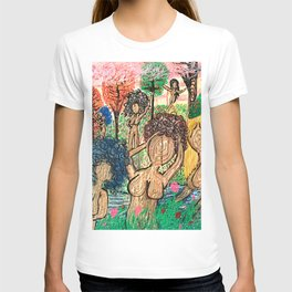 Lady Swirls and Curls T-shirt