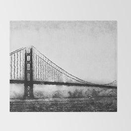 Golden Gate Bridge Throw Blanket