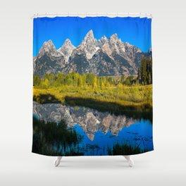 Grand Teton - Reflection at Schwabacher's Landing Shower Curtain